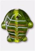 Perle en verre poisson VP34 olivine x2