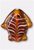 Perle en verre poisson VP34 marron x2