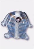 Perle en verre poisson VP34 bleu clair x2