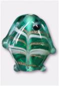 Perle en verre poisson VP34 vert d'eau x2