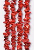 Chips jaspe rouge x 90cm