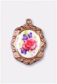 Médaille bouquet de fleurs cuivre 19x16 mm x1