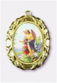 Médaille ange gardien or 28x23 mm x1