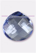 Larme à facettes 16x16 mm purple blue x1