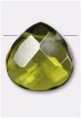 Larme à facettes 16x16 mm emerald quartz x1