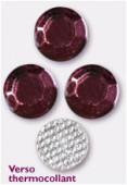Strass en verre HOTFIX 6.5 mm amethyst x72