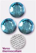 Strass en verre HOTFIX 6.5 mm aqua x72