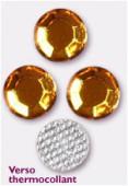 Strass en verre HOTFIX 6.5 mm topaz x72
