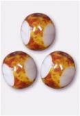 Perle 3-cut picasso 6 mm persian rose x12