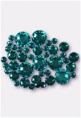 Strass HOTFIX 2078 3 mm / 5 mm / 7 mm blue zircon M HF x42