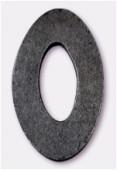 Ovale en bois 30x48 mm noir x1
