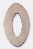 Ovale en bois 30x48 mm marron foncé x1