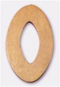 Ovale en bois 30x48 mm marron x1