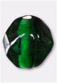 Perle en verre ronde VH27 émeraude x4