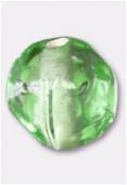 Perle en verre ronde VH27 vert clair x4