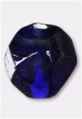 Perle en verre ronde VH27 bleu foncé x4