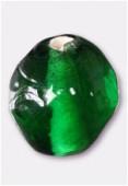 Perle en verre ronde VH26 émeraude x12