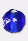 Perle en verre ronde VH32 bleu foncé x12