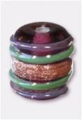 Perle en verre tube VTM23 améthyste x4