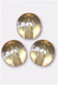 Ronde 8 mm crystal champagne x12