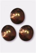 Ronde 8 mm lumi brown x12