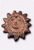 Soleil en terre cuite T78 cuivre x1