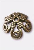 Coupelle en métal 17 mm bronze x2