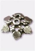 Coupelle en métal 12 mm argent vieilli x4