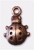 Breloque en métal coccinelle 10x16 mm cuivre x4