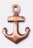 Breloque en métal ancre 10x15 mm cuivre x2