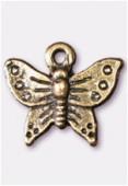 Breloque en métal papillon 14x15 mm bronze x2