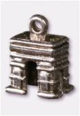 Breloque en métal arc de triomphe 10x15 mm argent vieilli x2