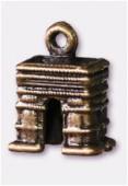 Breloque en métal arc de triomphe 10x15 mm bronze x2