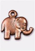 Breloque en métal éléphant 13x15 mm cuivre x2