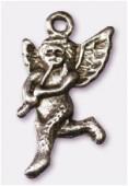 Breloque en métal ange 12x23 mm argent vieilli x2