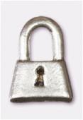 Breloque en métal cadenas 8x12 mm argent vieilli x2