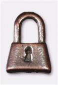 Breloque en métal cadenas 8x12 mm cuivre x2