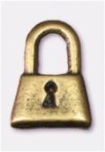 Breloque en métal cadenas 8x12 mm bronze x2