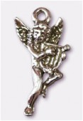 Breloque en métal ange lyre 10x22 mm argent vieilli x2