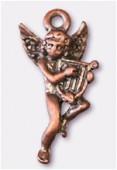 Breloque en métal ange lyre 10x22 mm cuivre x2