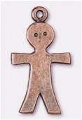Breloque en métal garçon 15x26 mm cuivre x2