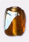 Perle en verre palet VS13 marron irisé x4
