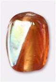 Perle en verre palet VS13 saumon irisé x4