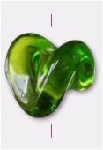 Perle en verre forme FG4 olivine x8
