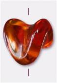 Perle en verre forme FG4 topaze x8