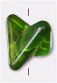 Perle en verre forme FG5 olivine x2