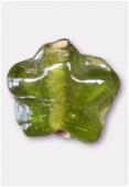 Perle en verre étoile VS3 olivine x8