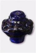 Perle en verre forme VF1 bleu foncé x1