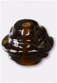 Perle en verre forme VF5 marron x2