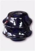 Perle en verre forme VF2 bleu foncé x1